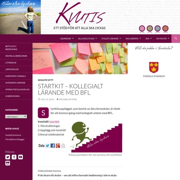 Startkit – en termins arbete medBFL