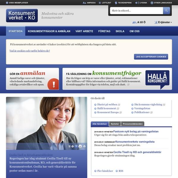 Startsida - Konsumentverket