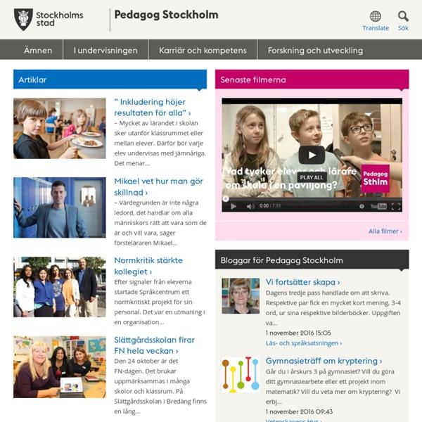 Pedagog Stockholm