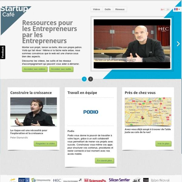 Startup Café - Accueil