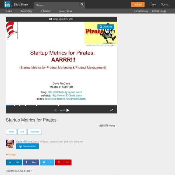 (9) Startup Metrics for Pirates