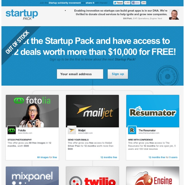 Startup Pack for marketers!