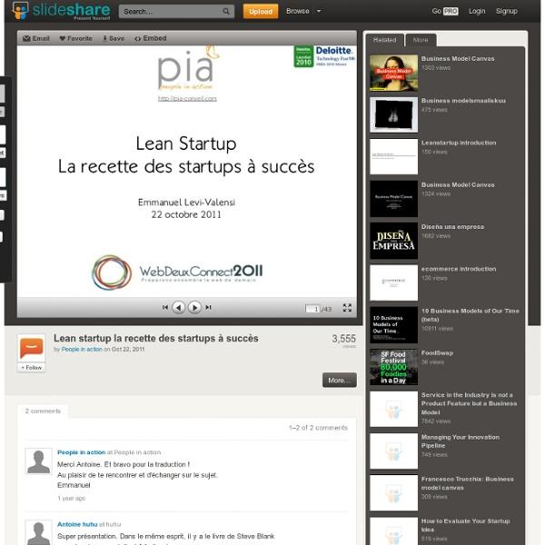 Lean startup la recette des startups à succès