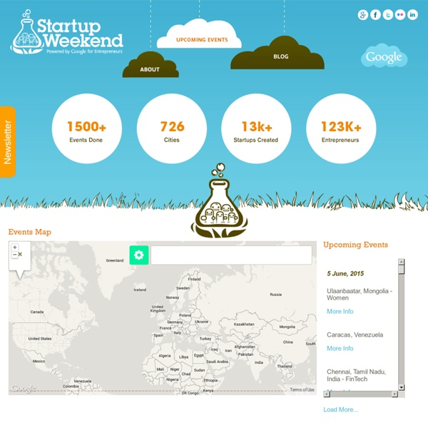 Startup Weekend Upcoming Events