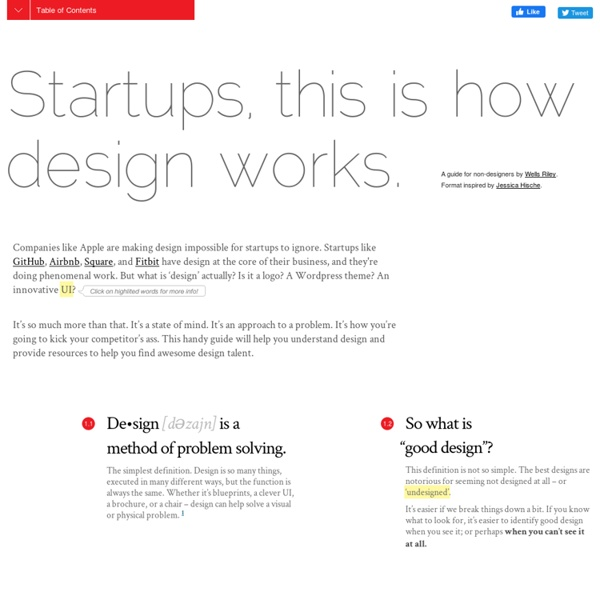 Startups, This Is How Design Works – by Wells Riley