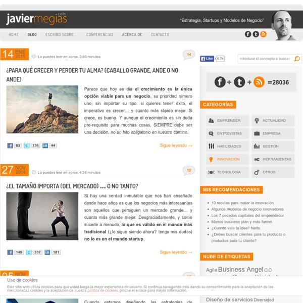 El Blog de Javier Megias Terol - Estrategia, Innovación y Modelos de negocio