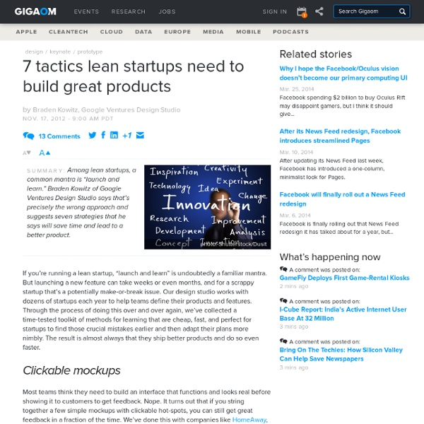 7 tactics lean startups need to build great products