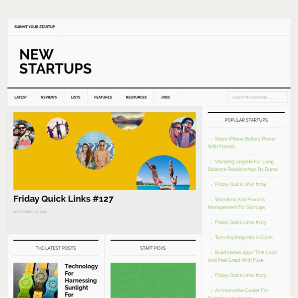 New Startups - Showcasing the brightest new startup ideas