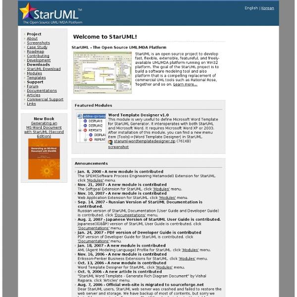 StarUML - The Open Source UML/MDA Platform