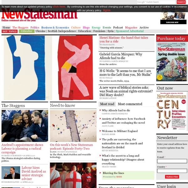 New Statesman - Britain's Current Affairs & Politics Magazine