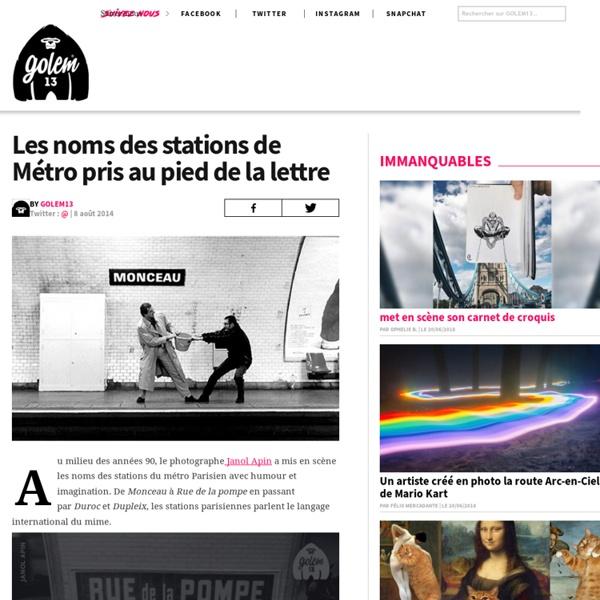 Les noms des stations de Métro prises au pied de la lettre