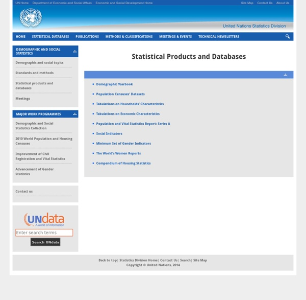 United Nations Statistics Division - Demographic and Social Statistics