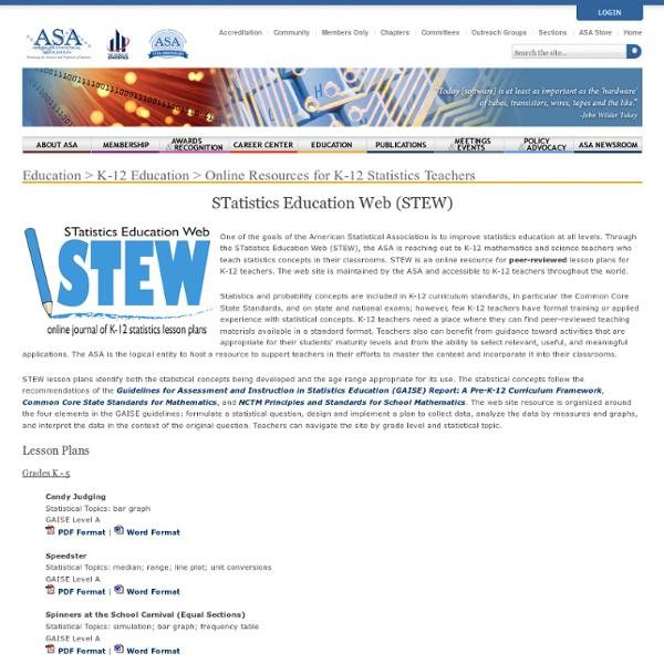 STatistics Education Web (STEW)