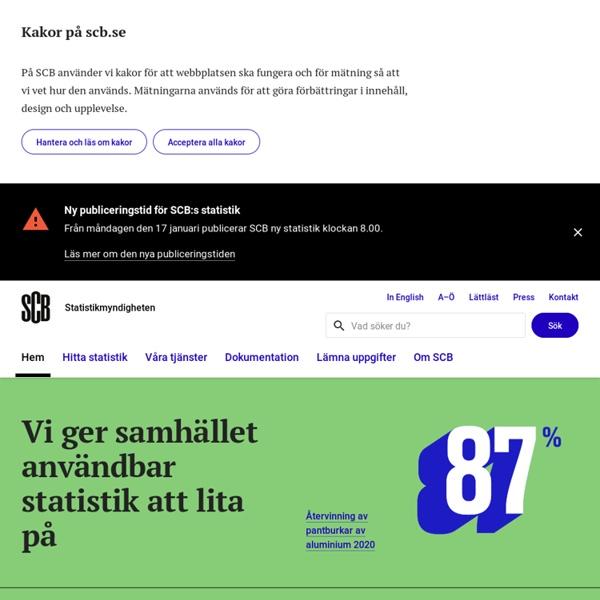 Startsida - Statistiska centralbyrån