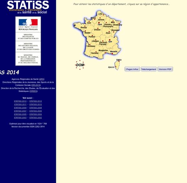 DREES - STATISS : STAtistiques et Indicateurs de la Santé et du Social - 2012