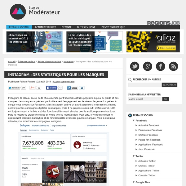 Instagram : des statistiques pour les marques