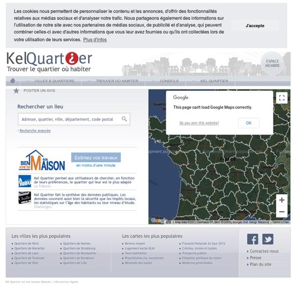 Tous les avis et statistiques sur plus de 43 000 quartiers et communes de France