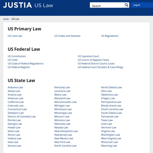 US Law, Case Law, Codes, Statutes & Regulations
