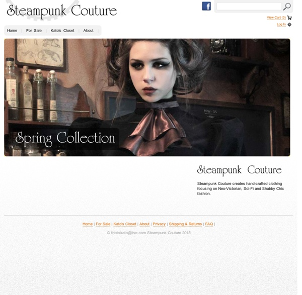 Steampunk Couture Clothing