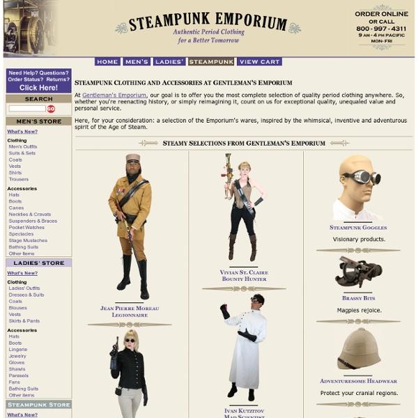 Steampunk Clothing from Gentleman's Emporium