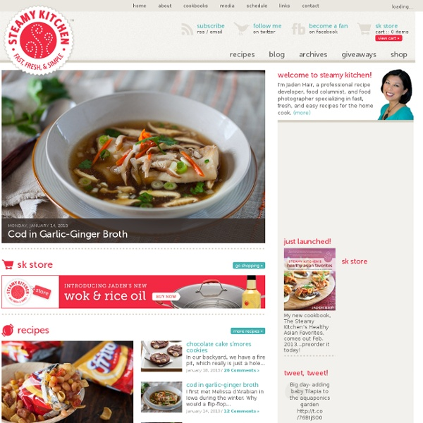 Steamy Kitchen Recipes and Food Blog | Pearltrees