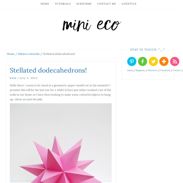 Stellated dodecahedrons!