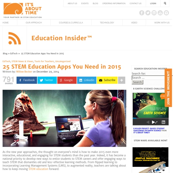 25 STEM Education Apps You Need in 2015