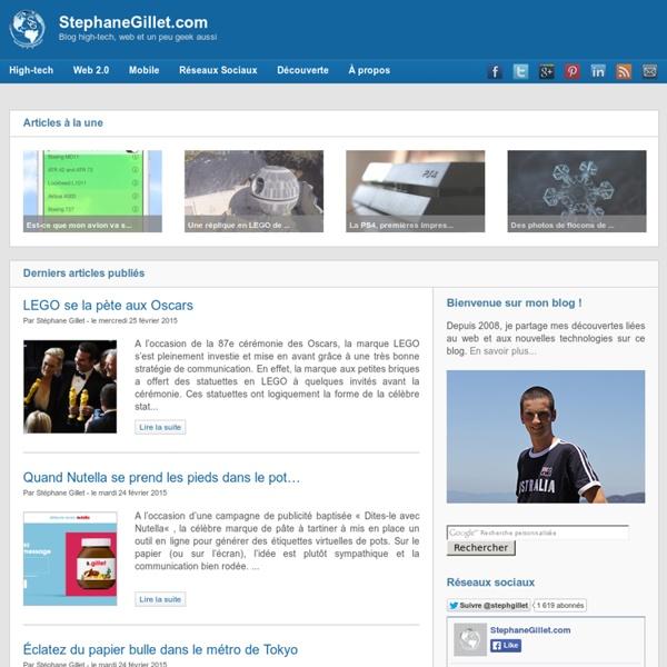 StephaneGillet.com - Blog High-Tech, Web et un peu Geek aussi
