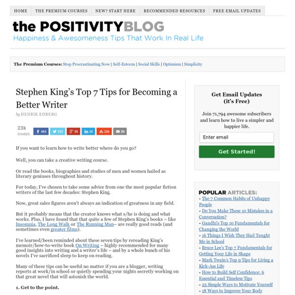 Stephen King's Top 7 Tips for Becoming a Better Writer