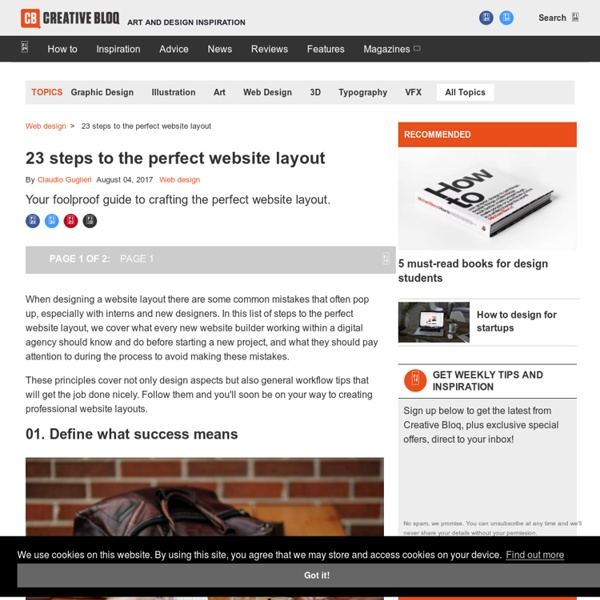 20 steps to the perfect website layout