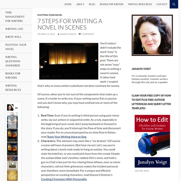 7 Steps for Writing a Novel in Scenes - Live Write Breathe