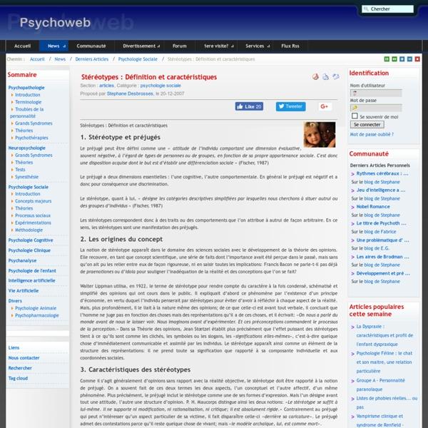 Stéréotypes : Définition et caractéristiques