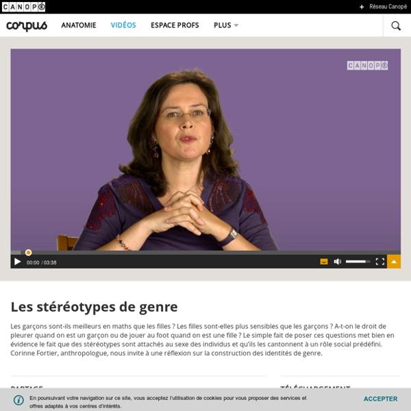 Les stéréotypes de genre - Corpus - réseau Canopé