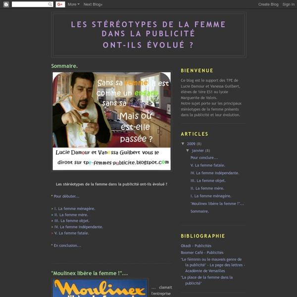 Les stéréotypes de la femme dans la publicité