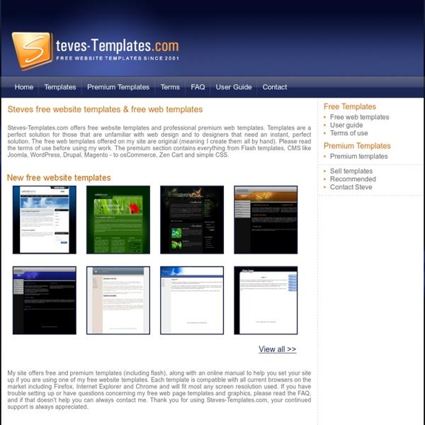 Steve's free web page templates