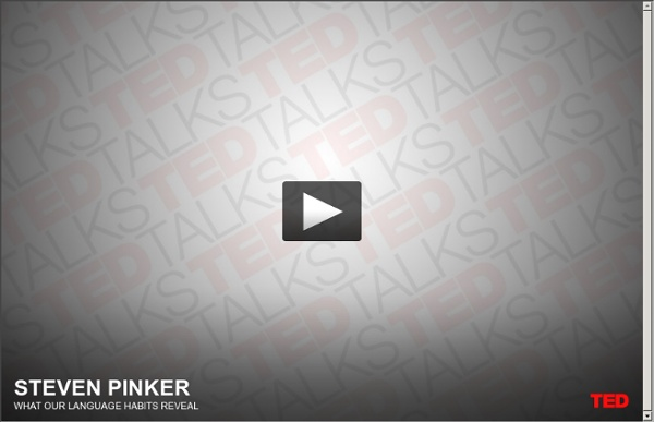Steven Pinker on language and thought