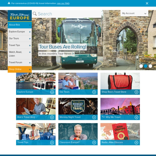Rick Steves Europe: Tour Operator, Travel Guides & Information
