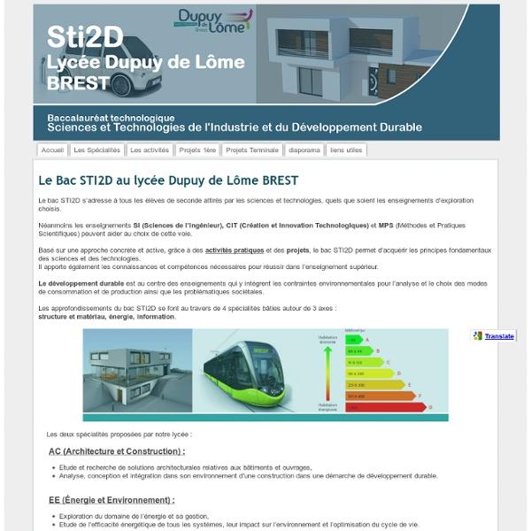Sti2d Lycée Dupuy de Lôme