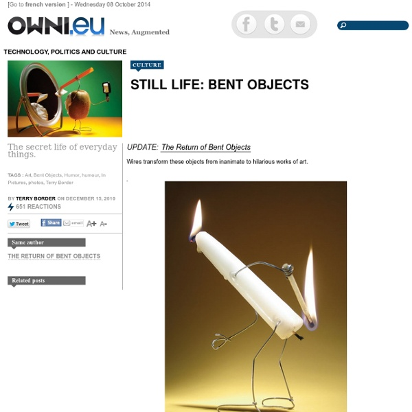 Still life: Bent objects » Article » OWNI.eu, Digital Journalism