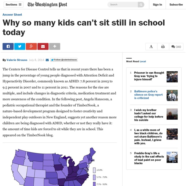Why so many kids can't sit still in school today