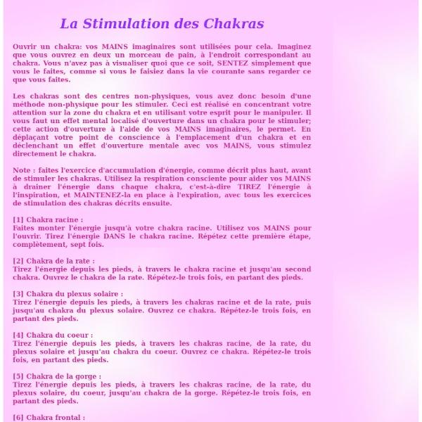 Stimuler les chakras