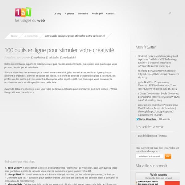 100 outils en ligne pour stimuler votre créativité