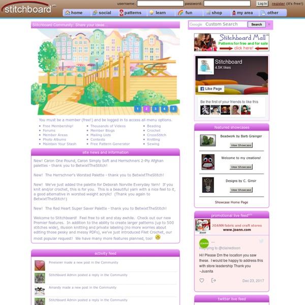 Stitchboard.com Free Pattern Wizard and Free Pattern Downloads