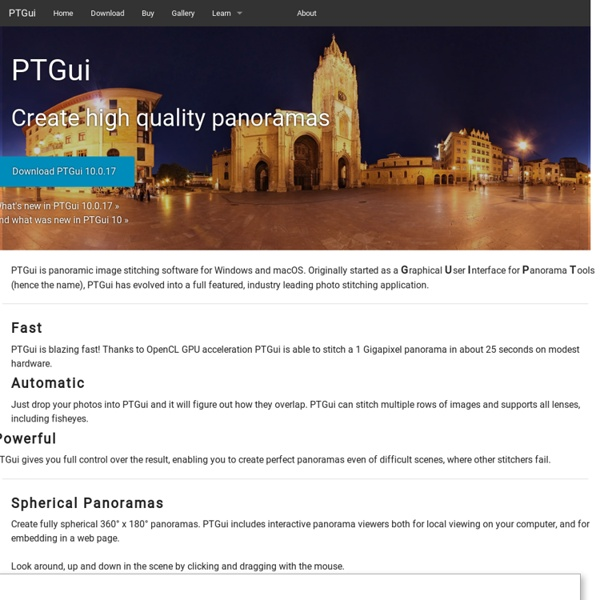Photo stitching software 360 degree Panorama image software - PTGui