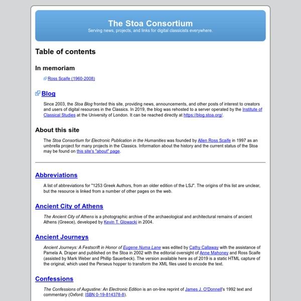 The Stoa Consortium