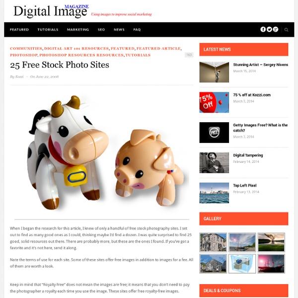 25 Free Stock Photo Sites