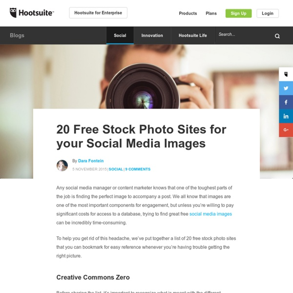 20 Free Stock Photo Sites for Your Social Media Images