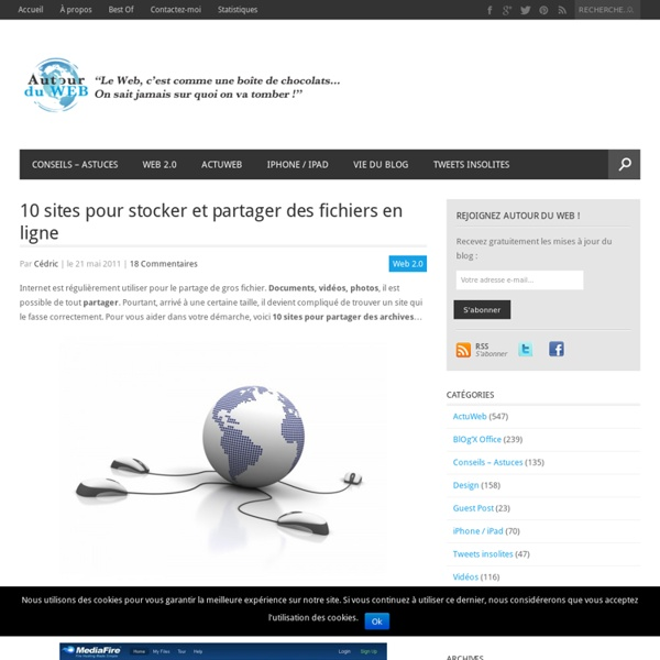 5 sites pour stocker et partager des fichiers en ligne