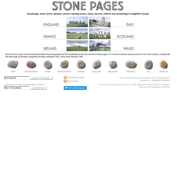 Web guide to Megalithic Europe
