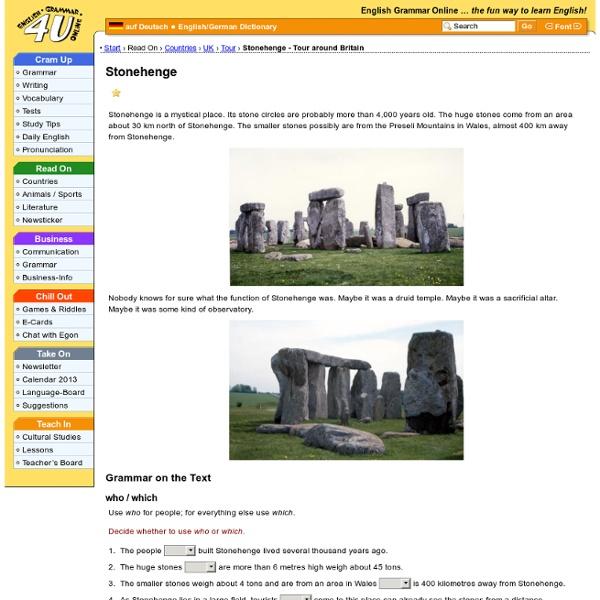 Stonehenge - Tour around Britain
